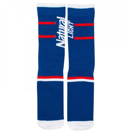 Natty Light Blue Crew Socks