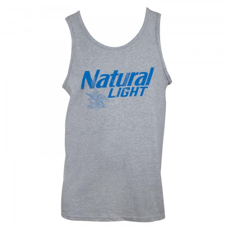 Natural Light Men's Grey Tank Top