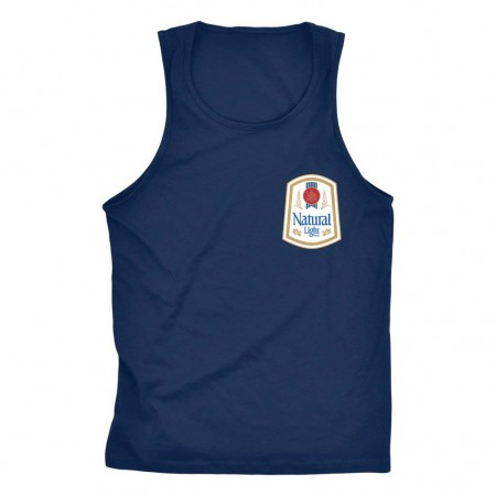 Natty Light Rowdy Gentleman Men's Navy Blue Vintage Logo Tank Top