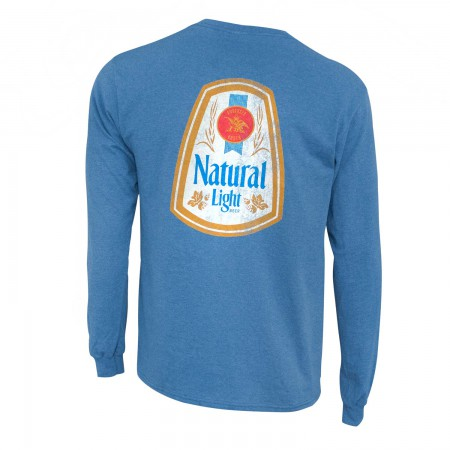 Natural Light Long Sleeve Blue Double Sided Print Tee Shirt