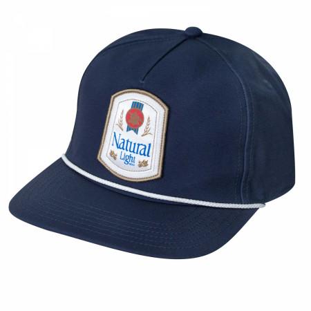 Natural Light Rowdy Gentleman Navy Blue Snapback Hat