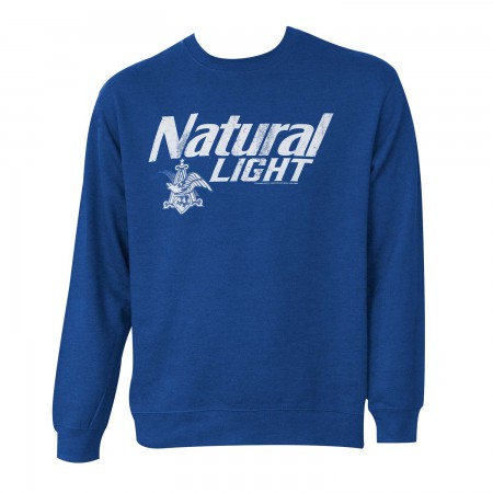 Natty Light Crew Neck Royal Blue Sweatshirt