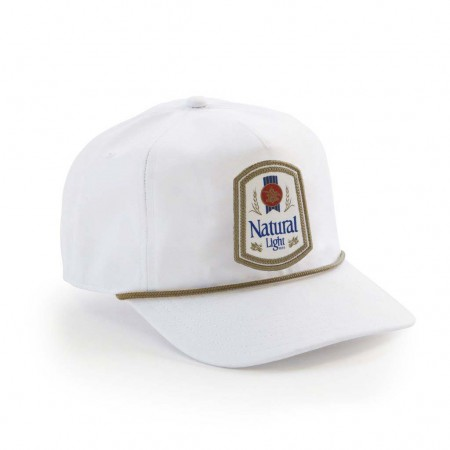Natty Light Rowdy Gentleman Vintage Logo White Snapback Hat