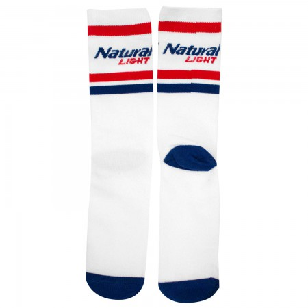 Natural Light White Crew Socks