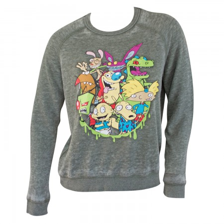 Nickelodeon Grey Ladies Character Crewneck Sweatshirt