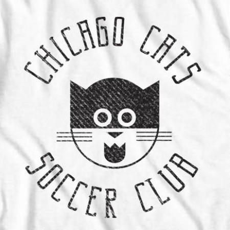 Men's White Chicago Cats Tee Shirt
