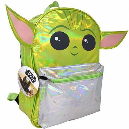 "Star Wars The Child The Mandalorian 16"" Backpack with Shaped Ears"
