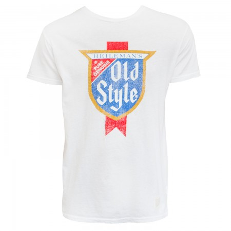 Old Style Men's White Retro Brand T-Shirt