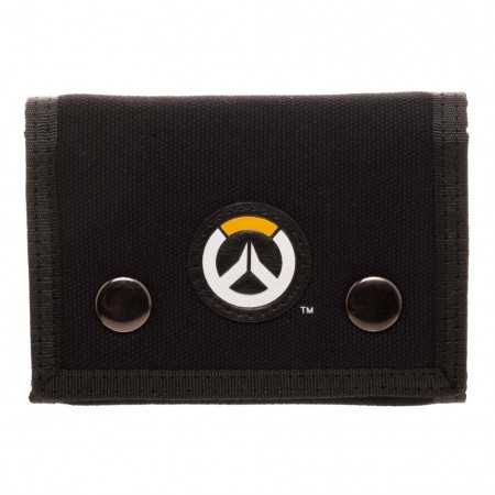 Overwatch Logo Black Trifold Wallet