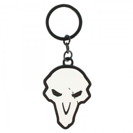 Overwatch Reaper Skull Logo Keychain