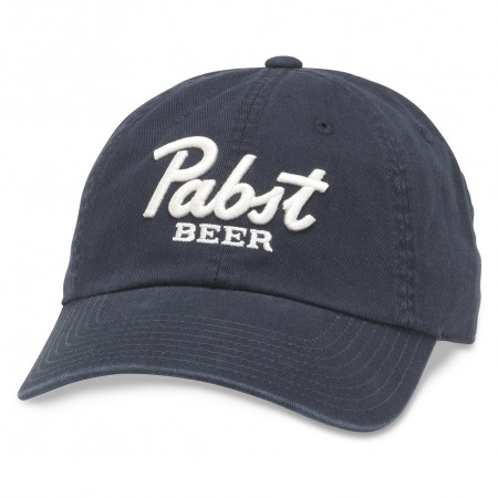 Pabst Beer Adjustable Navy Strapback Hat