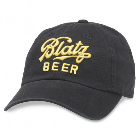 Blatz Beer Adjustable Black Strapback Hat