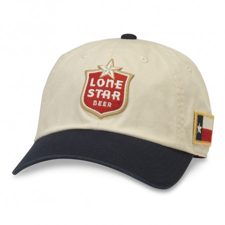 Lone Star Adjustable Black And White Strapback Hat
