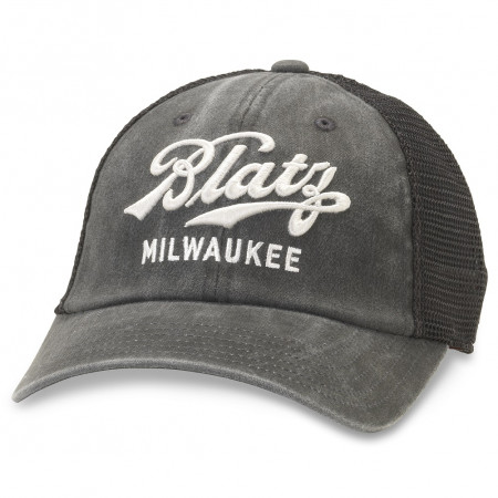 Blatz Beer Adjustable Black Mesh Snapback Hat