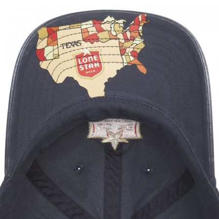 Lone Star Patch Adjustable Navy Blue Strapback Hat