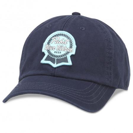 Pabst Blue Ribbon Blue On Blue Adjustable Strapback Hat