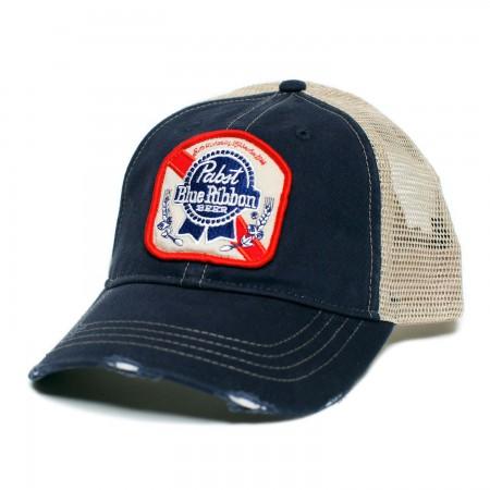 Pabst Blue Ribbon Patch Logo Trucker Hat