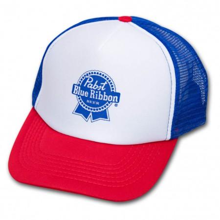 Pabst Blue Ribbon (PBR) Trucker Hat - Red, White & Blue