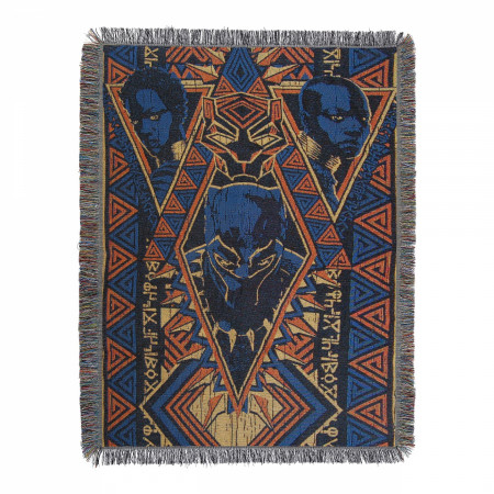 Black Panther King Tapestry Throw