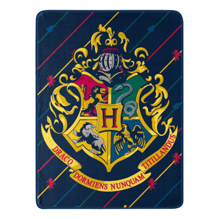 Harry Potter House Pinstripes 46x60 Micro Raschel Throw Blanket