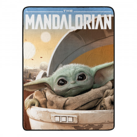 The Mandalorian The Child Arrived 46x60 Micro Raschel Throw Blanket