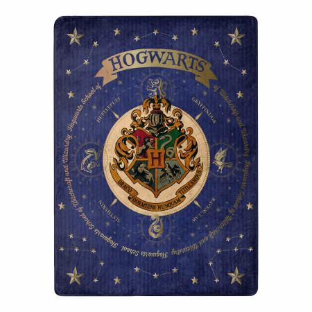 Harry Potter House of Hogwarts 46 X 60 Silk Touch Throw