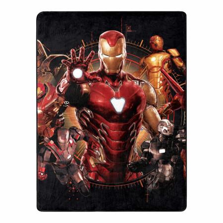 Marvel Comics Iron Man Iron Legacy 46 X 60 Silk Touch Throw