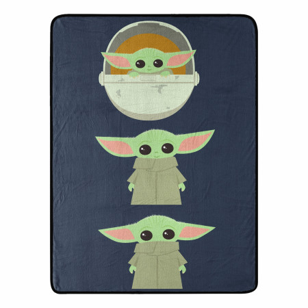 Star Wars The Child Grogu Expressions 46 X 60 Silk Touch Throw