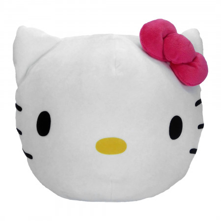 """Hello Kitty Face 11"""" Round Cloud Pillow"""