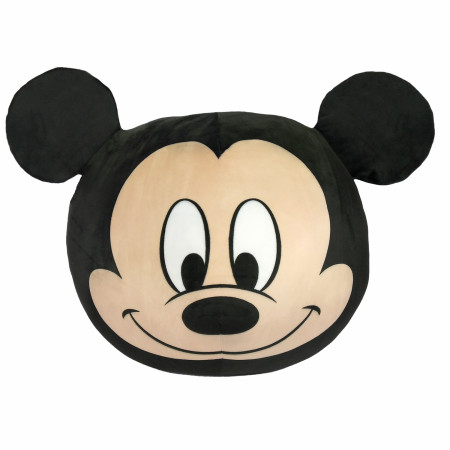 """Disney Mickey Mouse Face 11"""" Round Cloud Pillow"""
