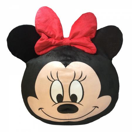 "Disney Minnie Mouse Face 11"" Round Cloud Pillow"