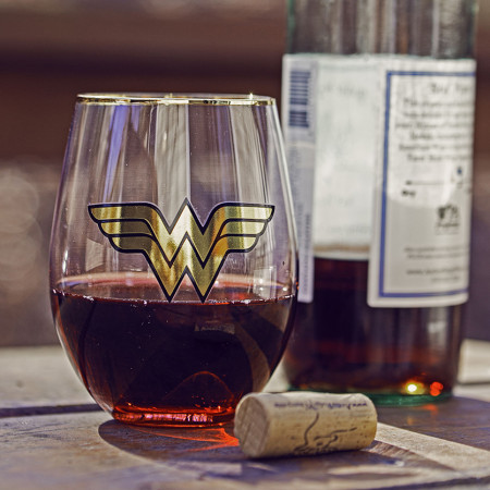 Wonder Woman Stemless Glass