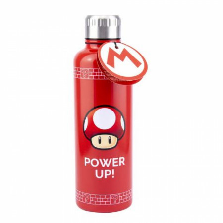 Super Mario Power Up Mushroom 16oz Double Walled Water Bottle