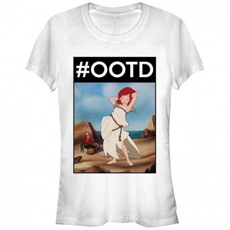 Disney The Little Mermaid OOTD Ariel White Juniors T-Shirt
