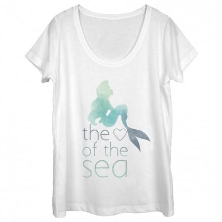 Disney The Little Mermaid Heart Of The Sea White Juniors T-Shirt