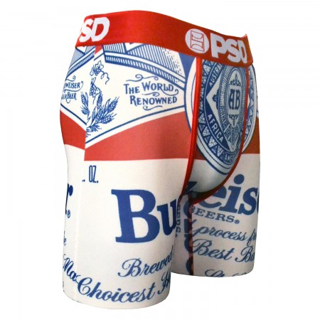 Budweiser Beer Label Boxers
