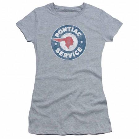 Pontiac Vintage Pontiac Service Gray Juniors T-Shirt