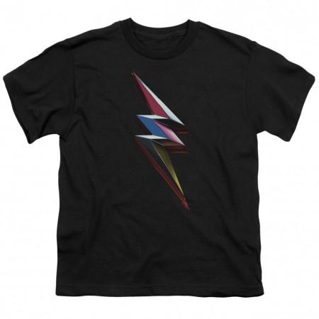 Power Rangers The Movie Bolt Logo Youth Tshirt