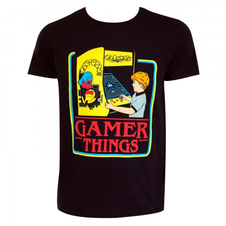 Pac-Man Men's Black Gamer Things T-Shirt