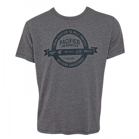 Pacifico Beer Preserves Outdoor Adventures Men's Gray T-Shirt
