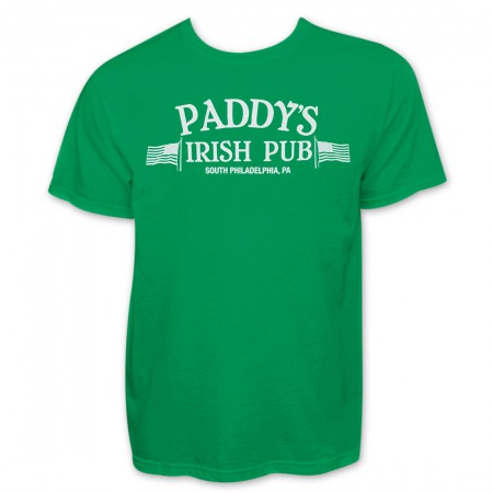 Paddy's Irish Pub Philadelphia St. Patrick's Graphic Men's Green T-Shirt