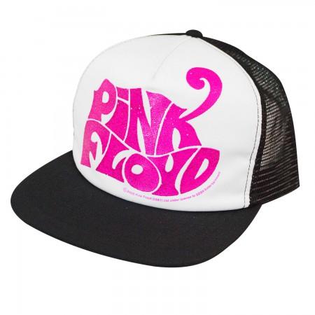 Pink Floyd Pink Logo Mesh Trucker Snapback Hat