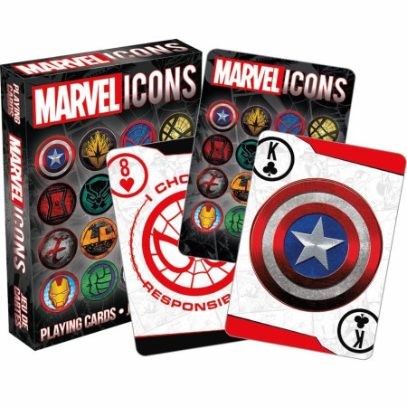 Marvel Logo and Symbol Icons Playing Cards