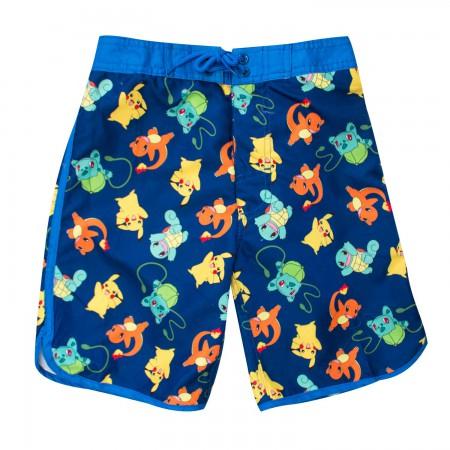 Pokemon Kids Blue Board Shorts