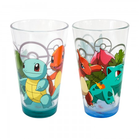 Pokemon Characters Pint Glasses