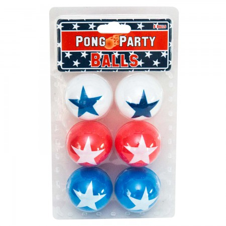 Patriotic Pong Party Beer Pong Ball Pack