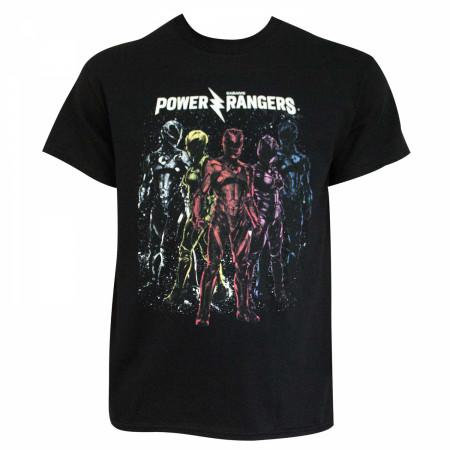 Power Rangers Men's Black Crew T-Shirt