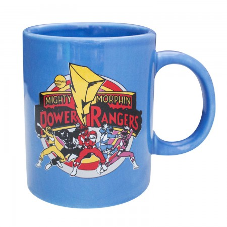 Power Rangers 11 Oz Blue Group Mug