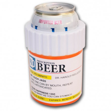 Prescription Bottle Beer Can Cooler