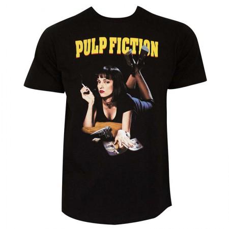 Pulp Fiction Mia Classic Men's Black Tee Shirt